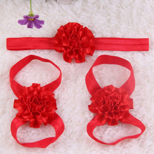 Artificial Newborn Foot Flowers Baby Head Flower Infants Accessories Headbands