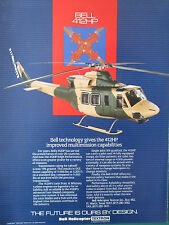 1/1991 PUB BELL HELICOPTER TEXTRON HELICOPTERE BELL 412HP ORIGINAL AD