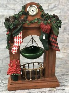 Yankee-Candle-Christmas-Mantle-Stockings-Clock-Poinsetta-Tart-Burner-Warmer