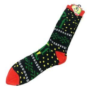 New Mens ELF MOVIE CHRISTMAS CREW Socks Size 6-12 'SON OF A NUTCRACKER'