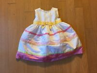 Gymboree Girls Flower Dress Size 18-24 M White Pink Wedding Formal Easter