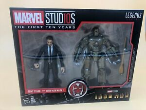 Marvel-Studios-Legends-Series-Hasbro-Tony-Stark-amp-Iron-Man-Mark-1-2-Pack-Action