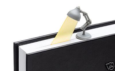 3 PACK Lightmarks Reading Lamp Bookmarks Grey Book Marker Gift Peleg Design