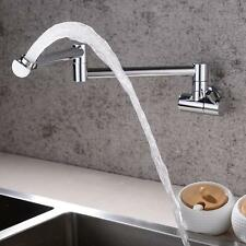 Brass Folding Single Cold Water Kitchen Sink Tap Pot Filler Faucet Wall Mounted
