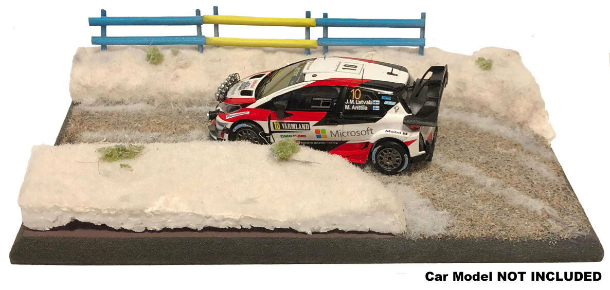 'Snow Road Stage' Rally 1 43 Scale Handcrafted Lightweight Model Display Base