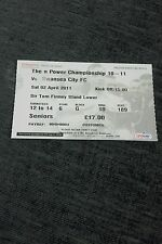PRESTON NORTH END V SWANSEA CITY USED TICKET 2ND APRIL 2011 SWANS  PROMOTED