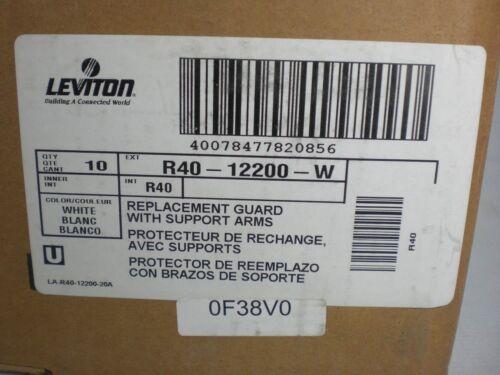 Leviton R40-12200-W Bulb Guards NIB NEW IN BOX Box of 10