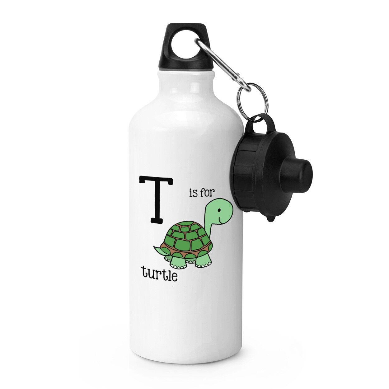 Lettre T Is pour tortue sport bouteille Alphabet Alphabet bouteille BOISSONS CAMPING FLASQUE 9d584f