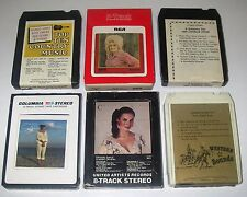 6 8-Track Tape Country Dolly Parton Tammy Wynette Charlie Pride Crystal Gale