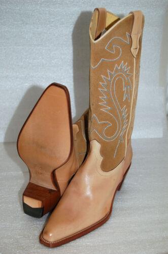 37 Cuoio Beige Camoscio Vitello Donna Woman Boot Fondo Ricamato Stivaletto 5wzPSHqxz