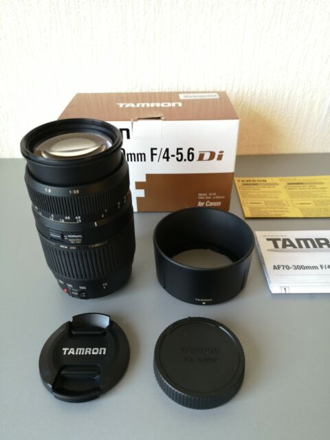 Tamron AF 70-300mm f/4-5.6 Di LD Tele Macro Zoom Lens & Hood Canon EF and EF-S