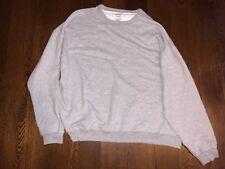 Size Large NEW Hanes Premium Mens Sweatshirt Fresh IQ Pullover Light Steel