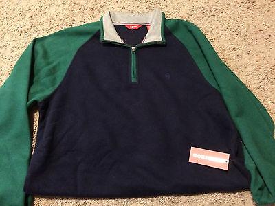 Hoodies & Sweatshirts Clothing, Shoes & Accessories Nwt Izod Men's 1\4 Zip Sueded Fleece Pullover Green Medium Msrp $60