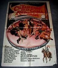 1973 Los Caballeros de la Cama Redonda, vintage 1 sheet original 27x41 Argentina