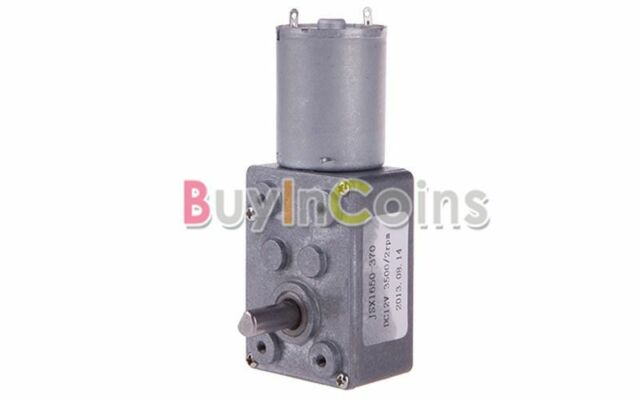 New DC 12V 2RPM Square High Torque Turbo Worm Geared Motor