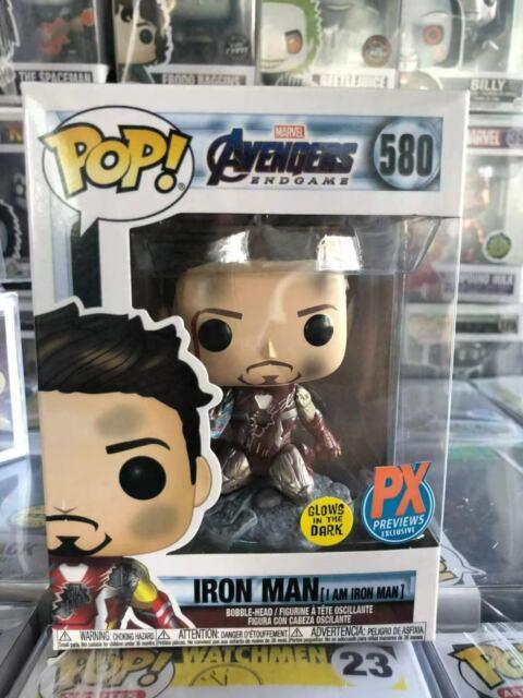 Funko Pop Avengers Endgame I Am Iron Man #580 Rare Retired Mint(+Protector)