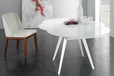 Tavolo Tondo Allungabile Base Metallo Laccata 5 Color Piani In Vetro 325 Ebay