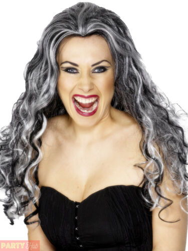 Ladies Renaissance Vampire Wig Halloween Fancy Dress Costume Accessory Scary