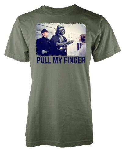 Pull My Finger T-Shirt Darth Vader Funny Star Wars Inspired Princess Leia