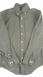 Brooks-Brothers-Shirt-Mens-Small-Long-Sleeve-Green-Cotton-Dress-Casual-Button-Up