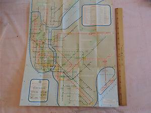Subway Map Brookyln.Details About Rare 1961 Edition New York City Nyc Subway Map Brooklyn Bronx