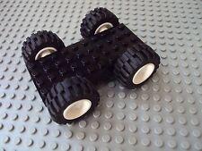 Lego Minifig ~ Black Car/Truck Base w/Tires 4x10 ~ Vehicle Chassis w/Wheels #zrh