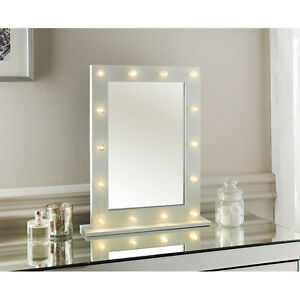 Nuova Hollywood Luce Led Specchio Da Console Dettagliata