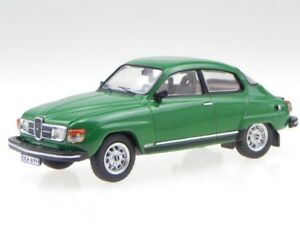 Saab-96-V4-1980-green-metallic-diecast-modelcar-PRD561-PremiumX-1-43