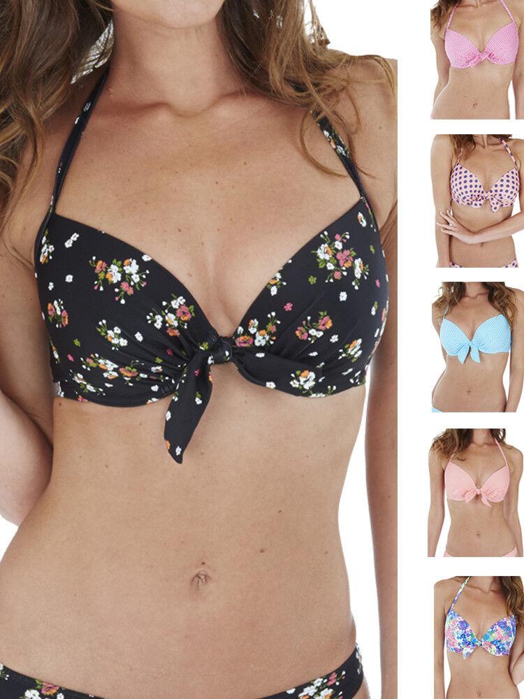 Freya Swimwear Rumble Padded Plunge Bikini Top Leopard Print 3937