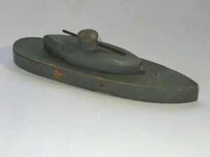 Antique-Wooden-Toy-Exploding-Blow-Up-Ship-Boat