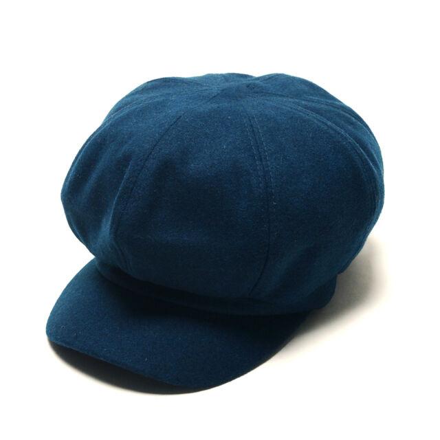 ae490fa39c3 Unisex Mens Womens Wool Baker Boy Flat Cap Newsboy Cabbie Gatsby Hats Blue