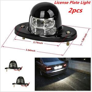2x 6 Led White Universal Led License Plate Light For Car