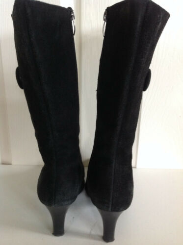 Length Uk 39 Heeled Knee Boots Patent Black 6 Genuine Leather Island Eur River z0wq66