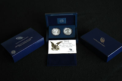 2012 San Francisco 75th Anniversary Reverse & Proof American Eagle Silver Set