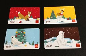 CANADA-2019-MCDONALDS-CHRISTMAS-GIFT-CARD-LOT-OF-4-PCS-NEW