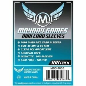 100-Bustine-Protettive-Sleeves-Mayday-MINI-Games-45x68-mm-7-Wonders-Ticket-Ride
