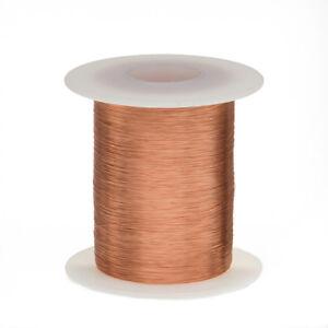 "35 AWG Gauge Enameled Copper Magnet Wire 8 oz 5107' Length 0.0061"" 155C Natural"