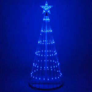 Led Outdoor Christmas Light Show Motion Tree Blue Color 3d Display