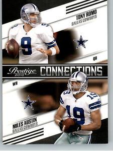 2010 Playoff Prestige Connections #12 Tony Romo & Miles Austin - Dallas Cowboys