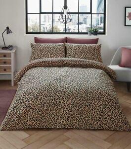 Linge De Maison Ebay.Details Sur Leopard Parure De Lit Imprime Animal King Couette Literie Linge De Set Natural Tan Afficher Le Titre D Origine