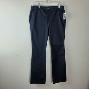 NWT-Old-Navy-Business-Casual-Pants-Women-039-s-Size-8-Solid-Black-Bootcut