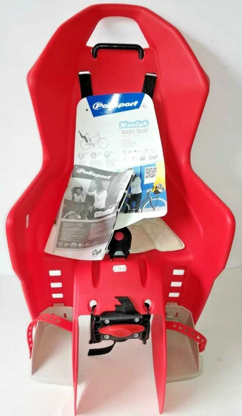 Red Koolah POLISPORT Baby carrier seat on seat tube for babies up to 22kg