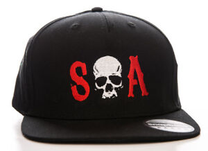 a0ea0c15968 Image is loading Hat-Sons-Of-Anarchy-S-O-A-Snapback-Cap-Hat-