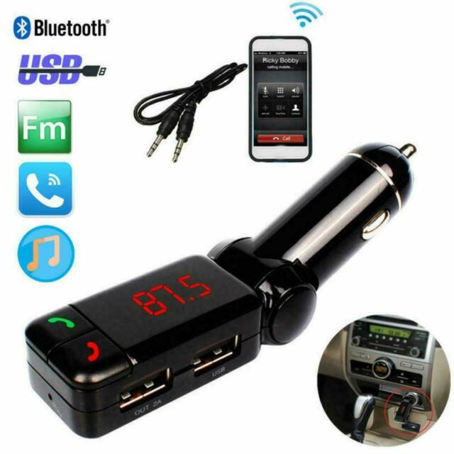 LCD Car Kit Bluetooth FM Transmitter MP3 Player 3.5 Charger USB Handsfree m A0Y2