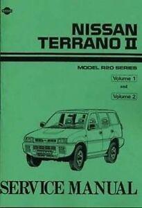nissan terrano ii 2 4 petrol 2 7 tdi 1993 0n shop manual 2 volumes rh ebay co uk nissan terrano ii workshop manual pdf nissan terrano 2 workshop manual