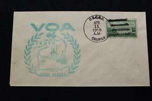 Navale-Cover-1958-Nave-Annullo-Postale-Voice-Of-America-Uscgc-Courier-WTR-410
