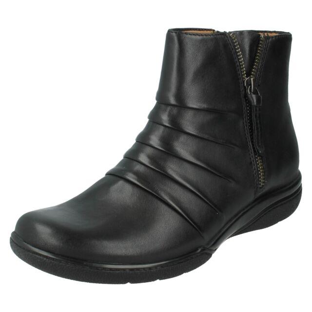 8e2261e48 Clarks Kearns Blush Ladies Black Ankle BOOTS UK Sizes 4 X 8 D ...