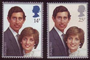 GB-1981-Royal-Wedding-SG-1160-1161-Set-of-2-Mint-MNH