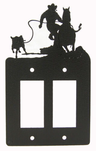 Calf Roper Roping Horse Double Rocker Cover Plate #2