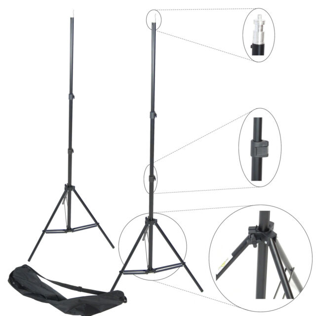 Stand 2x W803 220cm 7.2ft Professional Photo Studio Tripod Light Flash Lighting